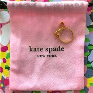 kate spade⎜love notes bow ring⎜gold